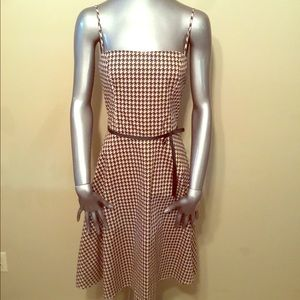 Vintage 90's Rampage black/cream geometric dress